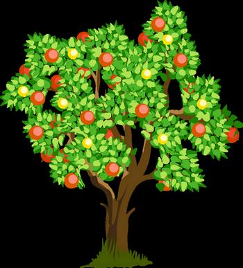 Яблоня с яблоками рисунок 5